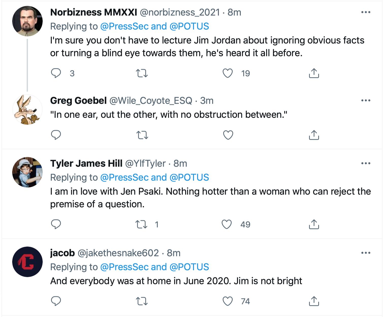 Screen-Shot-2021-06-21-at-12.55.33-PM Jen Psaki Makes Jim Jordan Look Even Dumber Than Usual Economy Featured Joe Biden Politics Top Stories Twitter