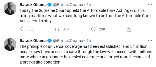 Screenshot-2021-06-17-2.46.00-PM Obama Celebrates SCOTUS Health Care Decision With Message Of Hope Donald Trump Healthcare Politics Social Media Top Stories