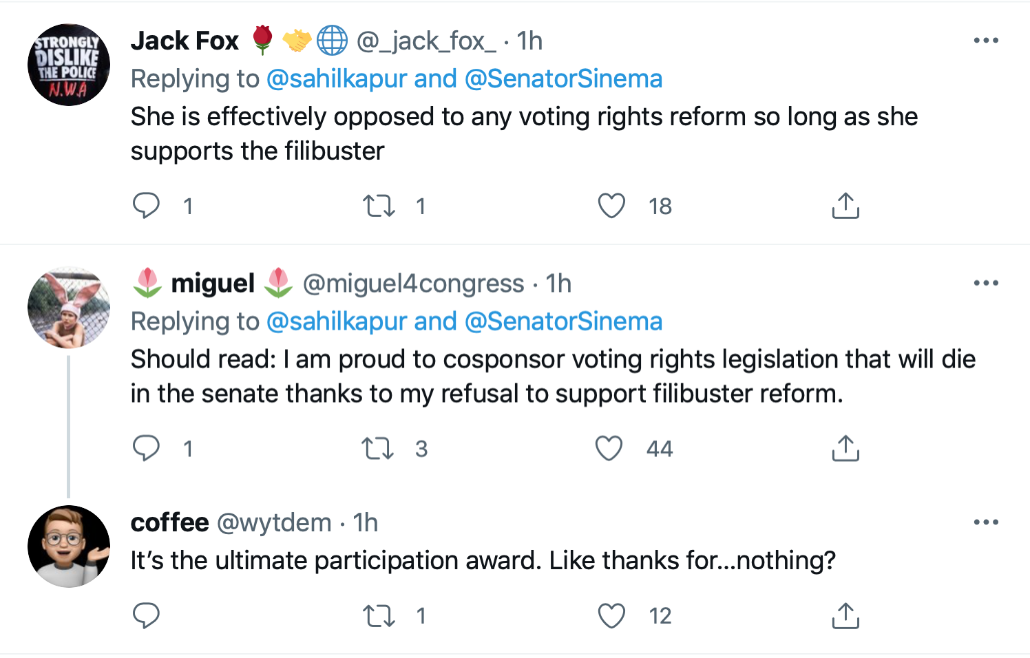 Screen-Shot-2021-07-01-at-4.33.40-PM Kyrsten Sinema Calls For Votings Rights Act After SCOTUS Ruling Civil Rights Featured Politics Top Stories Twitter