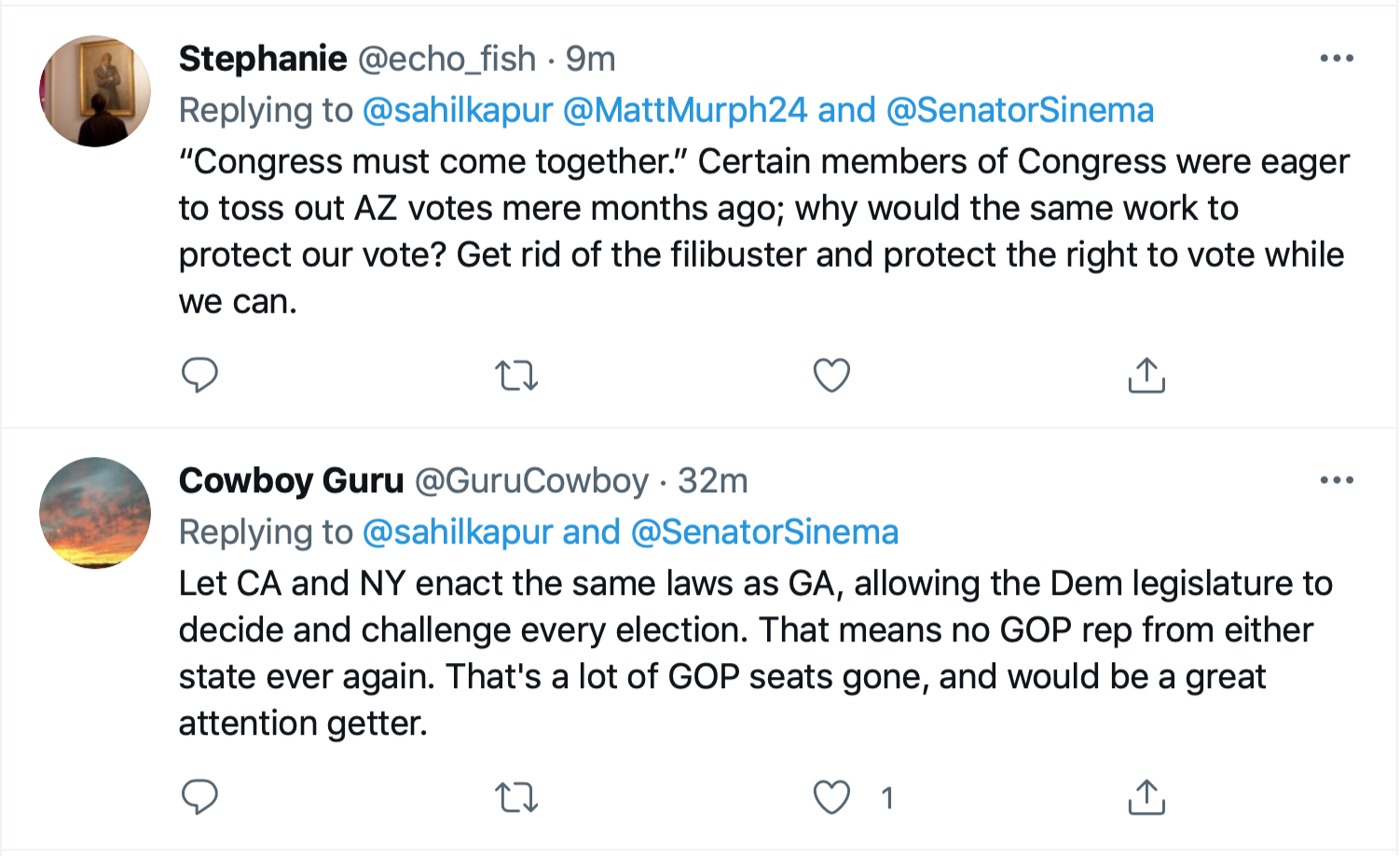 Screen-Shot-2021-07-01-at-4.34.34-PM Kyrsten Sinema Calls For Votings Rights Act After SCOTUS Ruling Civil Rights Featured Politics Top Stories Twitter