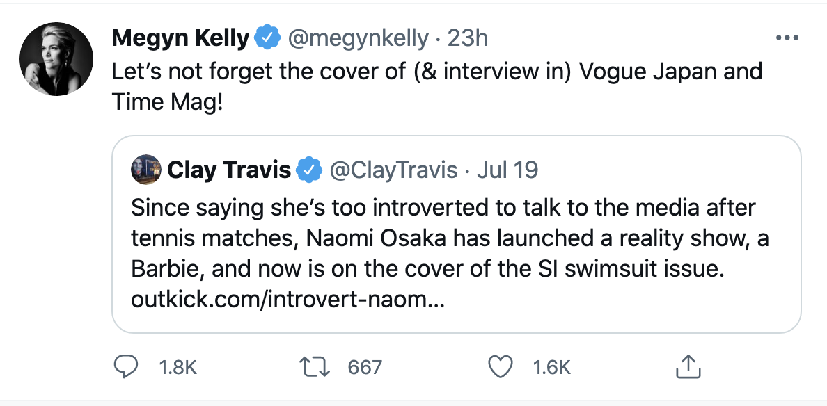 Screen-Shot-2021-07-20-at-10.52.04-AM Naomi Osaka Aces Disgraced Megyn Kelly Over Petty Online Attack Featured Politics Social Media Sports Top Stories
