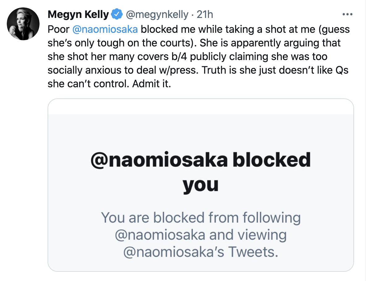Screen-Shot-2021-07-20-at-10.55.16-AM Naomi Osaka Aces Disgraced Megyn Kelly Over Petty Online Attack Featured Politics Social Media Sports Top Stories