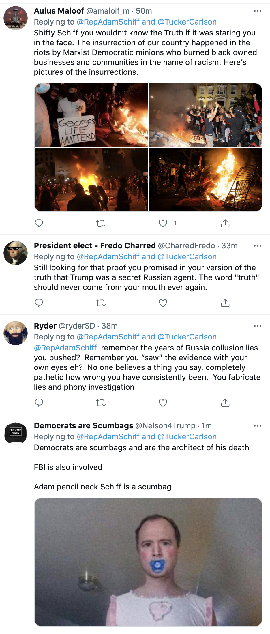 Screen-Shot-2021-07-23-at-10.12.37-AM Adam Schiff Comes After Tucker Carlson For Being Anti-Police Black Lives Matter Featured National Security Politics Top Stories