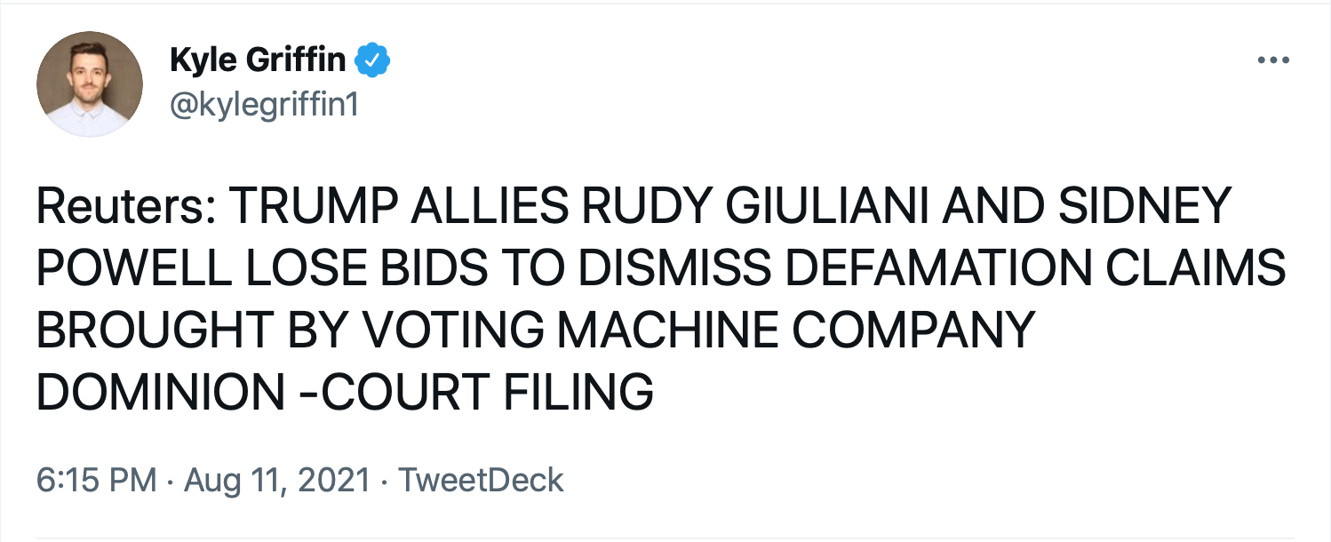 Screen-Shot-2021-08-11-at-6.54.56-PM Court Rules Against Giuliani & Powell In $1.4B Defamation Case Conspiracy Theory Donald Trump Election 2020 Featured Politics Top Stories