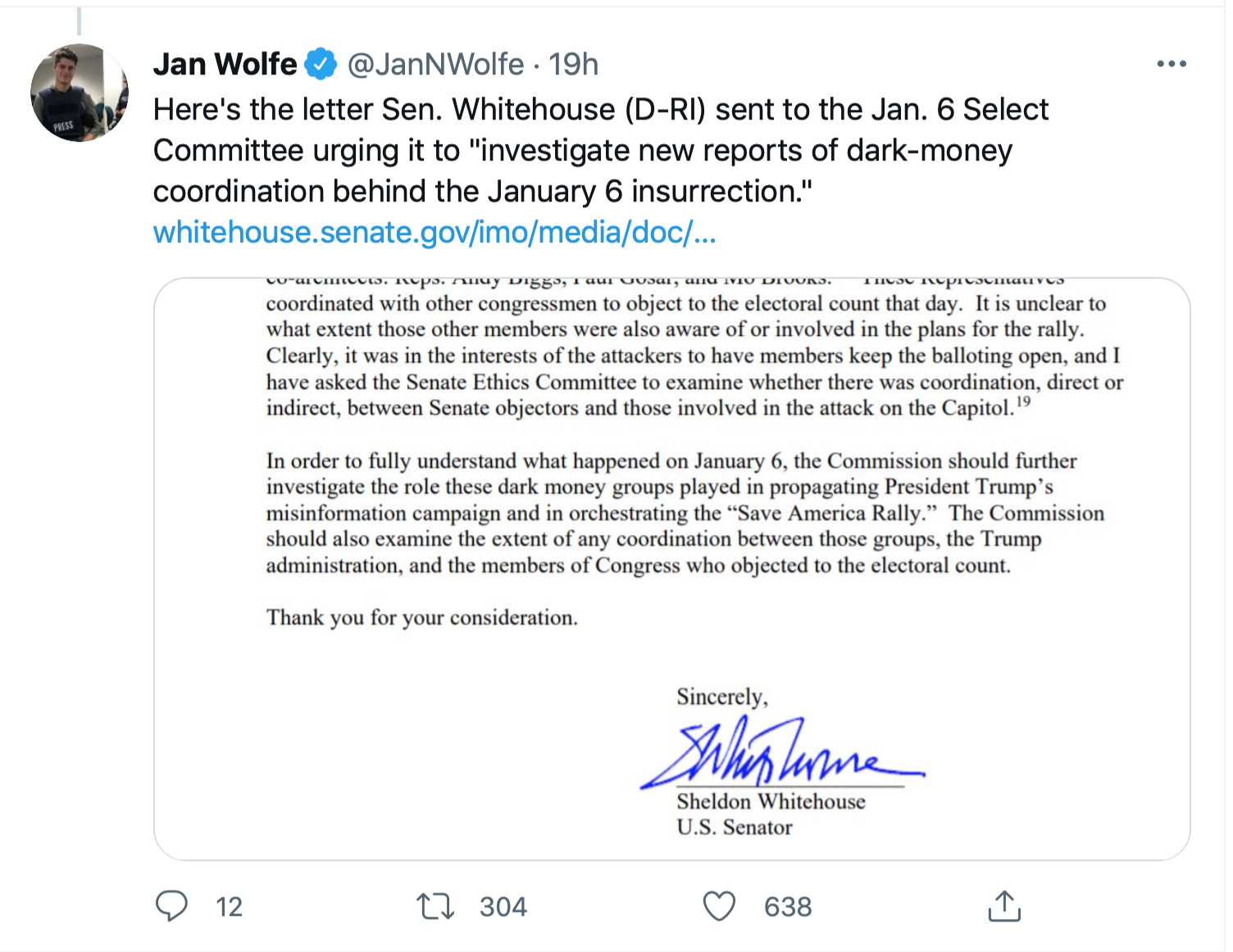 Screen-Shot-2021-08-14-at-10.39.08-AM Jan 6 Committee Investigation Of Paul Gosar For Coordinating Insurrection Demand Corruption Crime Featured Politics Top Stories Twitter