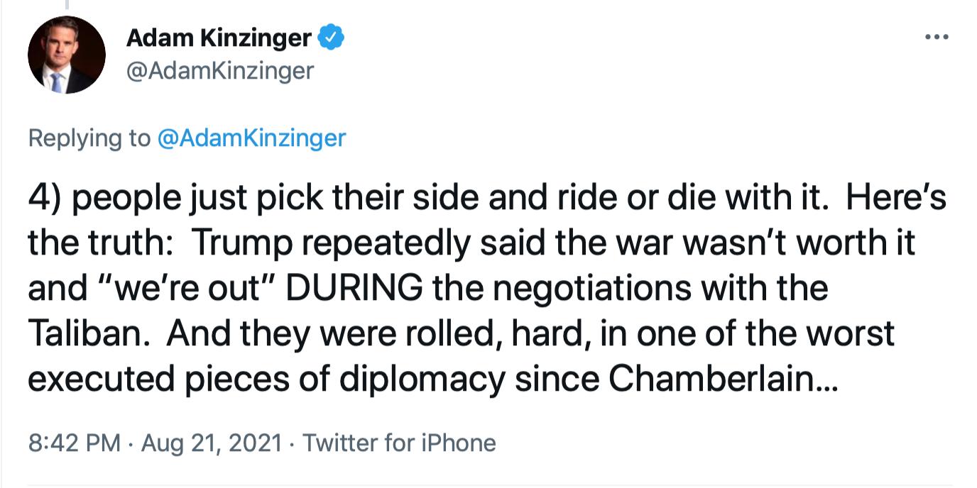 Screen-Shot-2021-08-22-at-10.22.32-AM Kinzinger Clobbers GOP Colleagues With Afghanistan Fact-Check Donald Trump Featured Joe Biden Politics Top Stories