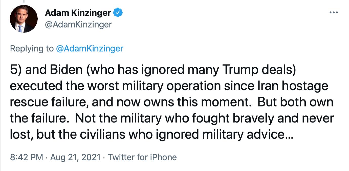 Screen-Shot-2021-08-22-at-10.22.47-AM Kinzinger Clobbers GOP Colleagues With Afghanistan Fact-Check Donald Trump Featured Joe Biden Politics Top Stories