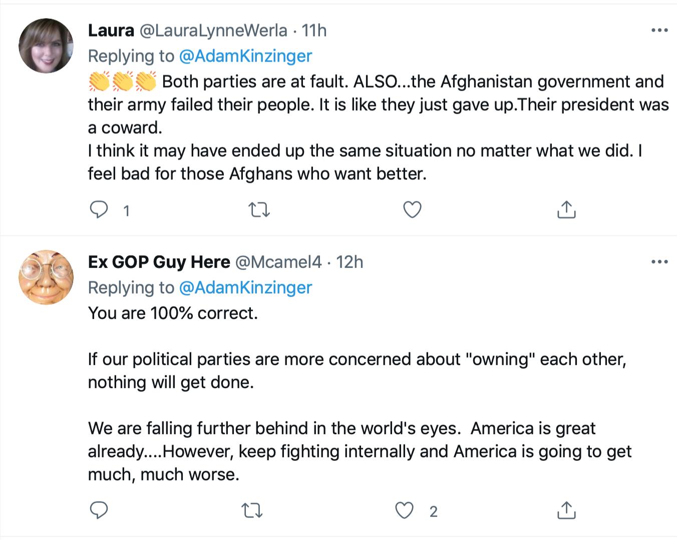 Screen-Shot-2021-08-22-at-10.28.05-AM-1 Kinzinger Clobbers GOP Colleagues With Afghanistan Fact-Check Donald Trump Featured Joe Biden Politics Top Stories