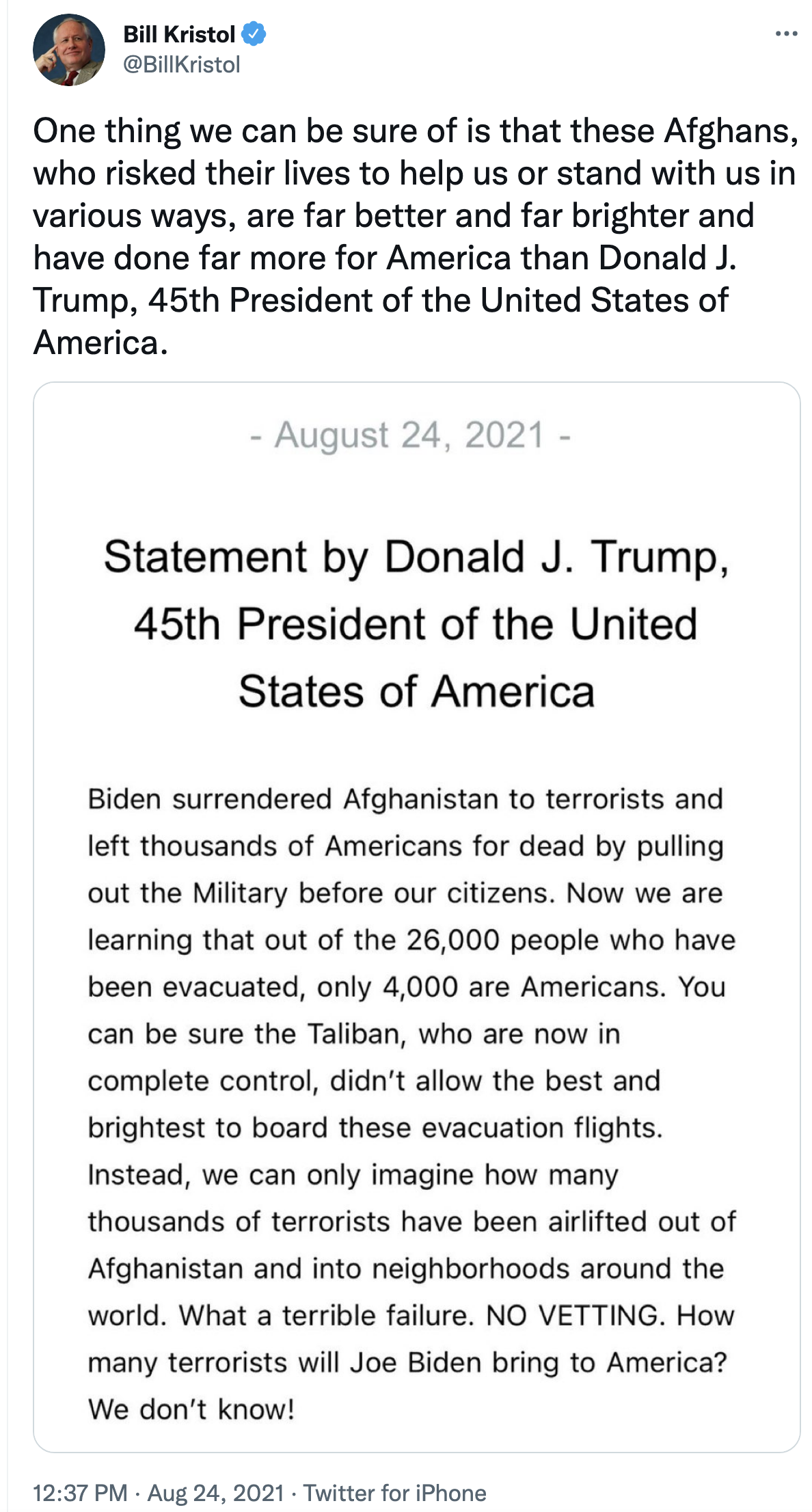 Screen-Shot-2021-08-24-at-2.10.08-PM Trump Claims Biden Is Flying Terrorists To US From Afghanistan Corruption Donald Trump Military Politics Top Stories