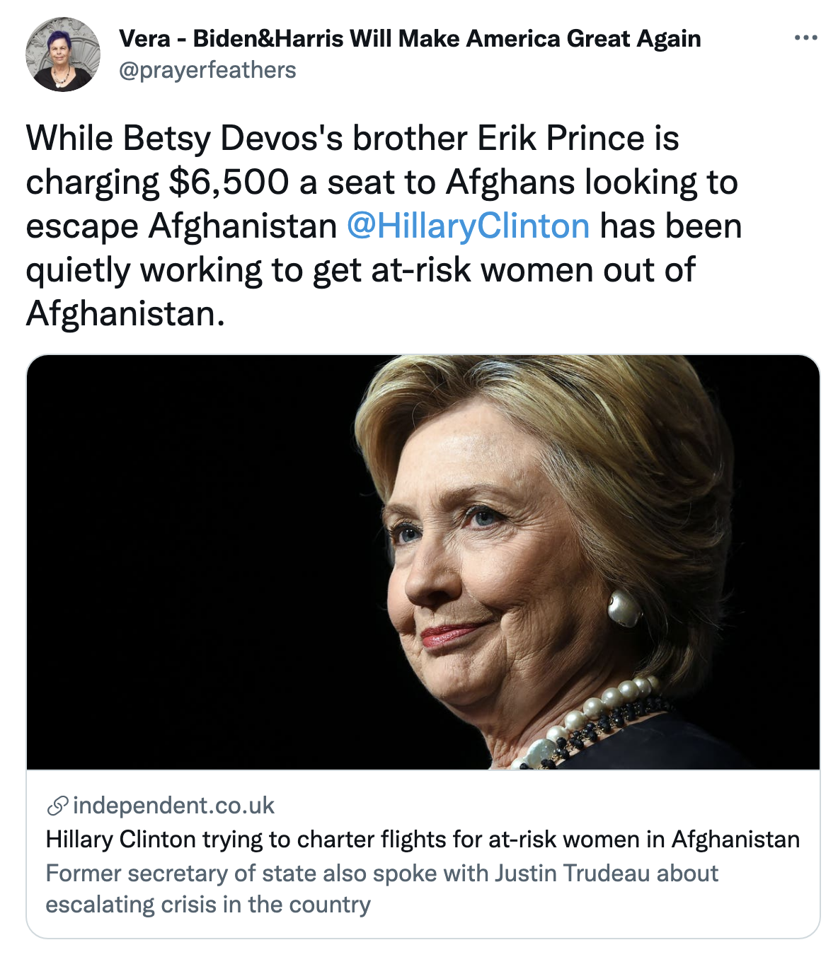 Screen-Shot-2021-08-25-at-3.45.53-PM Hillary Clinton Flies Targeted Afghan Women To Safety On Private Charters Featured Human Rights Politics Top Stories Women's Rights