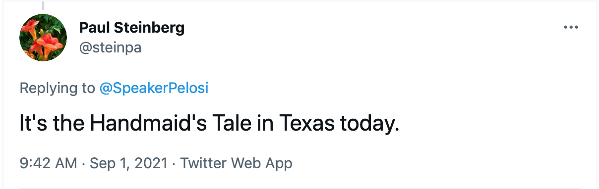 Screen-Shot-2021-09-01-at-9.55.41-AM Pelosi Promises Big Fight To Stop Texas Abortion Ban Abortion Featured Feminism Politics Top Stories Twitter