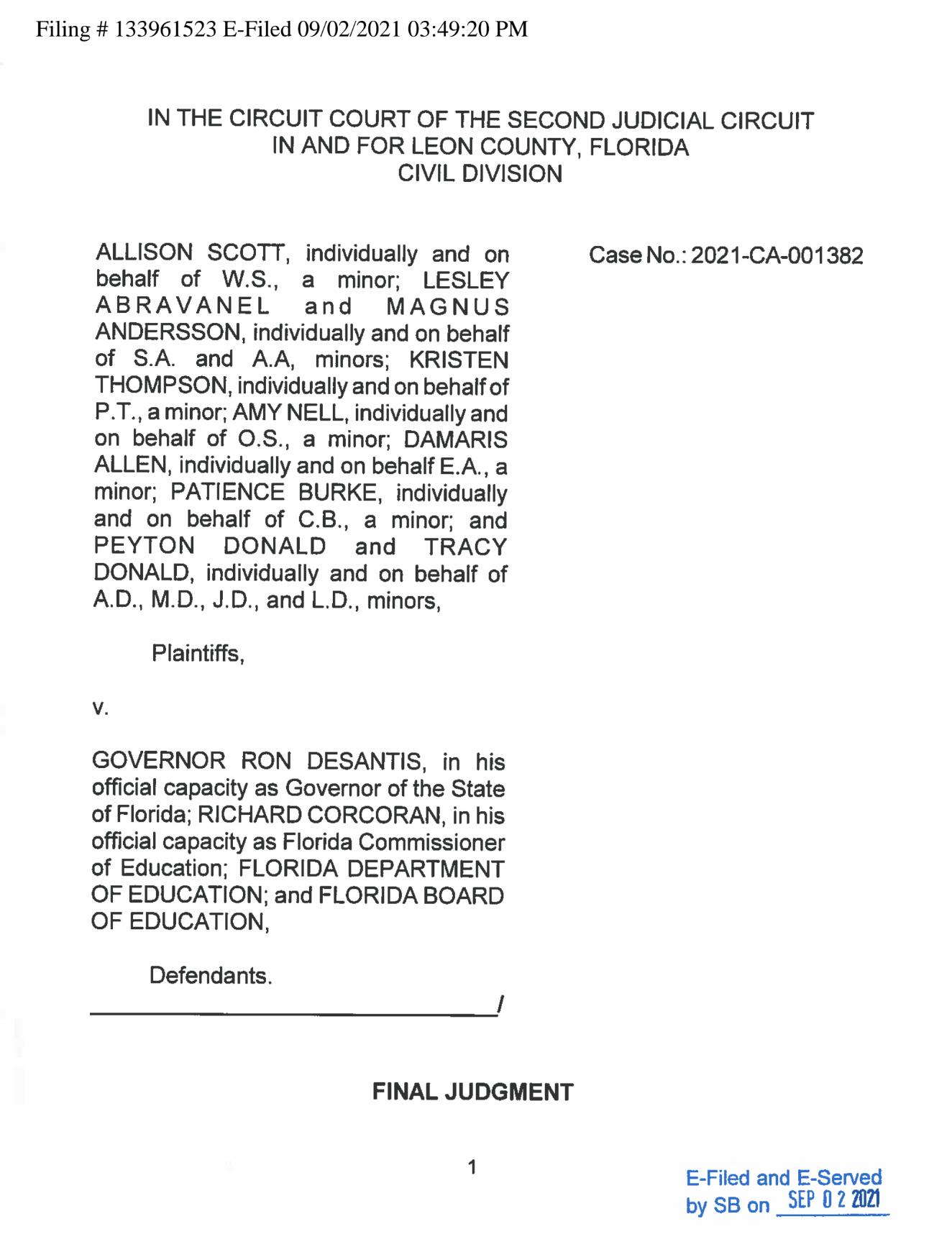 Screen-Shot-2021-09-08-at-1.12.04-PM Florida Judge Strikes Down Ron DeSantis' COVID Restrictions Coronavirus Education Featured Politics Top Stories