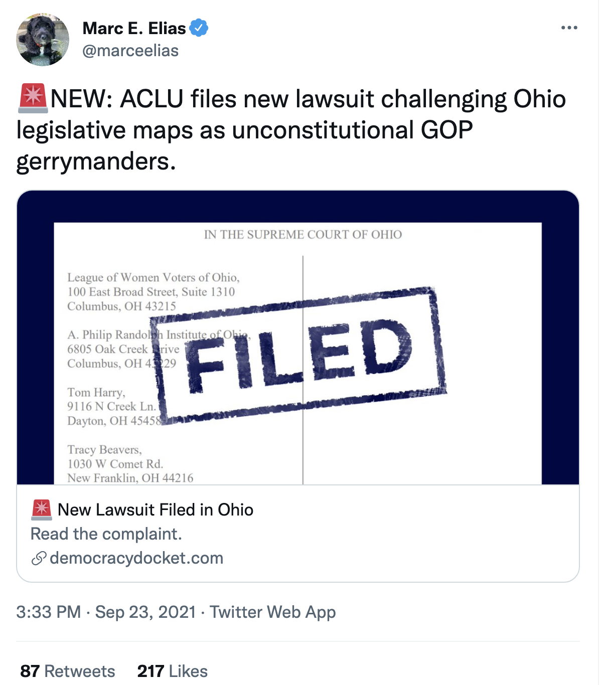 Screen-Shot-2021-09-23-at-3.37.12-PM Ohio GOP Voter Suppression Law Hit With Immediate Legal Action Civil Rights Corruption Domestic Policy Featured Politics Top Stories