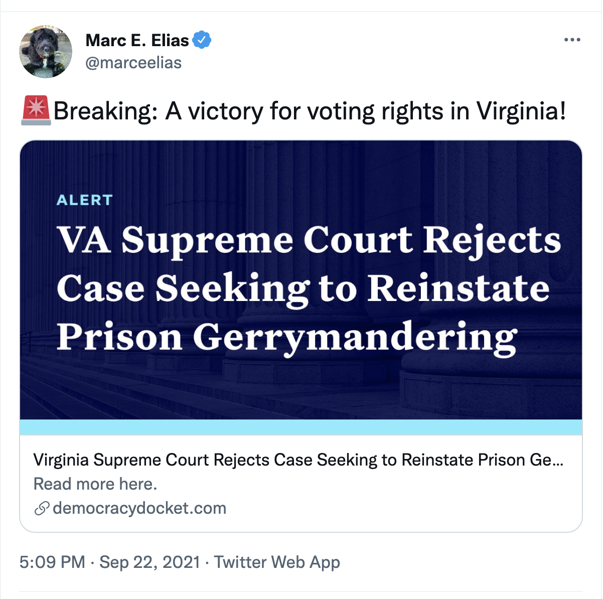 Screen-Shot-2021-09-23-at-8.58.50-AM State Supreme Court Snubs GOP & Strikes Down Vote Suppression Law Civil Rights Corruption Featured Politics Top Stories