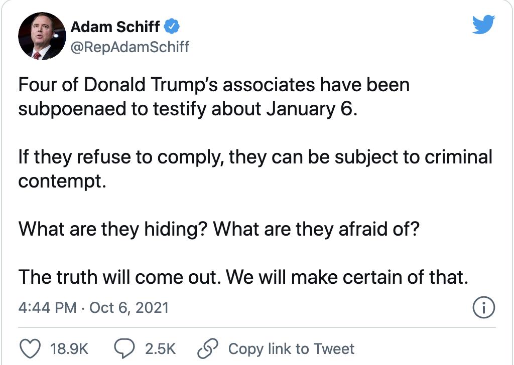 Screen-Shot-2021-10-07-at-8.33.56-AM Adam Schiff Directly Threatens Trump Aides For Ignoring Subpoenas Donald Trump Featured Politics Top Stories