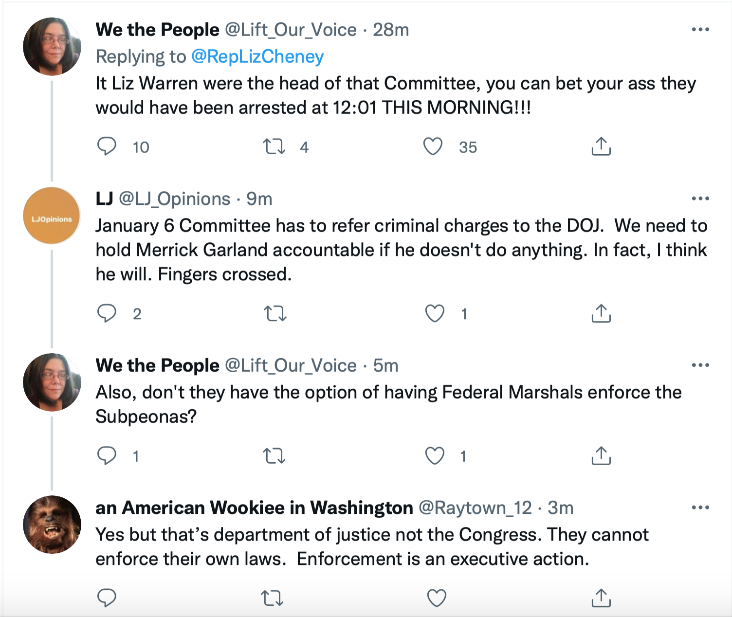 Screen-Shot-2021-10-08-at-2.19.07-PM Liz Cheney Sends Dire Warning To Trump Goons For Obstruction Corruption Crime Donald Trump Featured Politics Top Stories Twitter