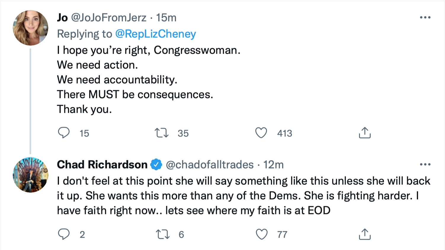 Screen-Shot-2021-10-08-at-2.19.51-PM Liz Cheney Sends Dire Warning To Trump Goons For Obstruction Corruption Crime Donald Trump Featured Politics Top Stories Twitter